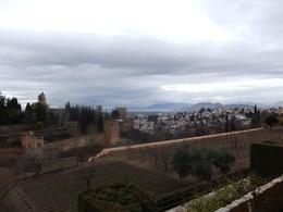 Utsikt fra hagen med Alhambra og Granada , Lars - January 2014