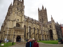 Outside Canterbury Cathedral with Steve, our witty and helpful tour guide! , Martin S - July 2016