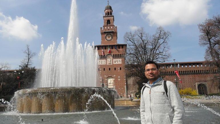 Castello Sforzesco and Fountain - Milan