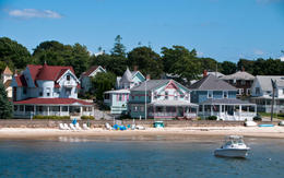 A Victorian cottage colony on a quiet bay on Cape Cod, Massachusetts. - May 2011