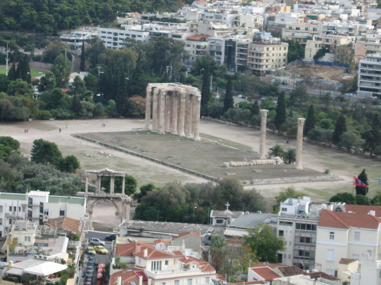 Hadrian's Arch and Temple of Zeus - Athens