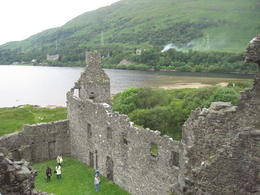 view from inside the castle looking on to a loche (lake) , Christine - July 2012