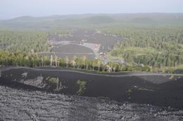 Where the lava flowed covering cafes and shops in 2004 eruption , Sheila H - July 2014