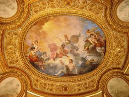 A view of a ceiling in the Louvre. This isn't your basic white ceiling., Ralph P - October 2007