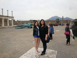 Photo with Vesuvius in the background , Beth W - April 2016