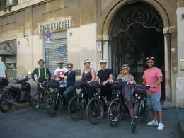 My great bike crew and captain ready to roll through the streets of Rome! , Ashleigh M - April 2016