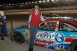 The King of NASCAR at the Richard Petty Ride Along Experience. What an awesome surprise!, Nicks - September 2010