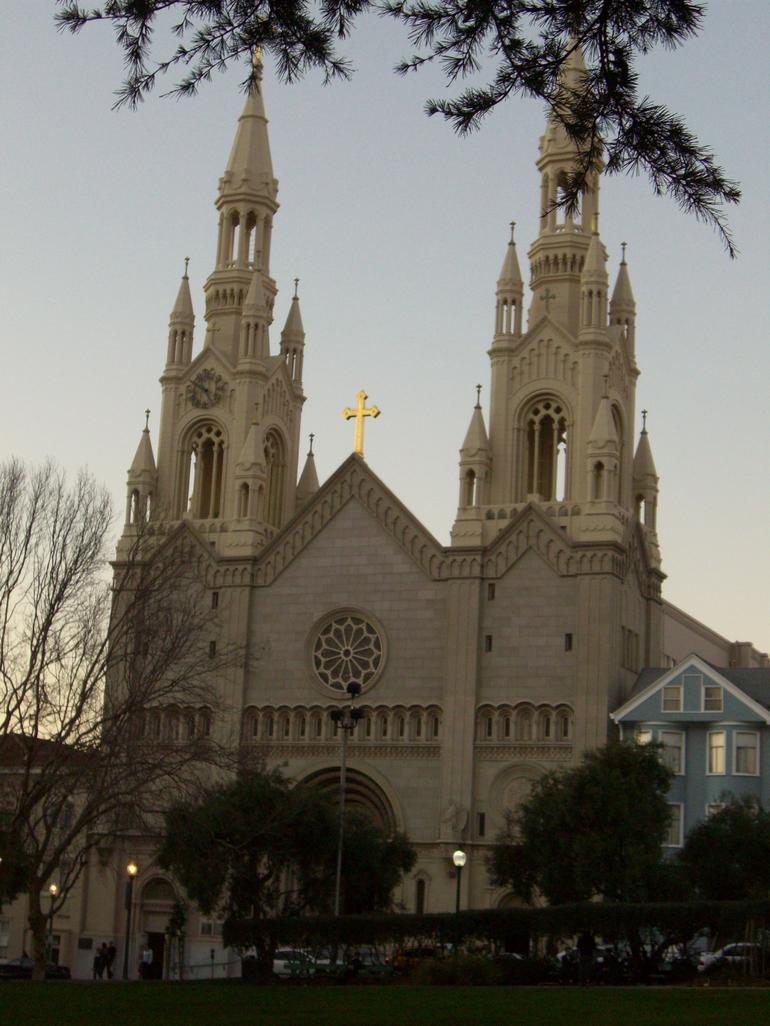 Saints Peter and Paul church in North Beach, SF - San Francisco
