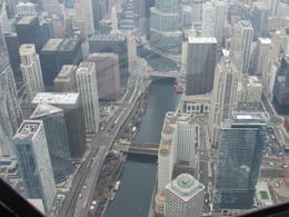 a view of the Chicago river , Nina P - April 2017
