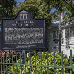 Information sign for the LIttle White House , Dean H - May 2017