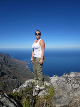 ME at the top of Table Mountain , Nazli - February 2011