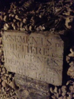 Walls of he catacombs, Paris , Lynn R - October 2015