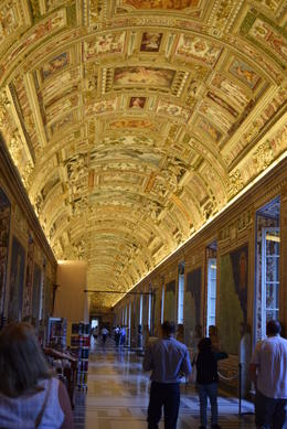 One of the hallways en route to the Sistine Chapel , Jennifer G - October 2014