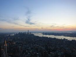 Dawn falling on Lower Manhattan, Patricia P - July 2015