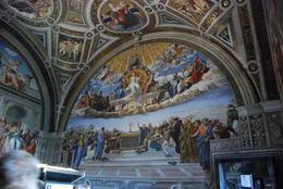 One of the many beautiful frescos in Raphael's Rooms in the museum. , Donald E. S - October 2012