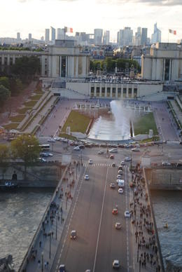 Our view from our table while we ate dinner in the Eiffel Tower. , NZM - May 2012