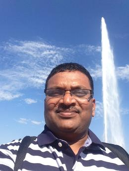 Geneva Lake Water Fountain , Babul - August 2016