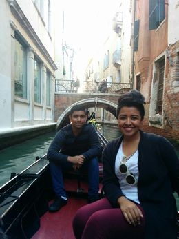 This me and my wife enjoying the gondola ride in our honeymoon! , Jesus D - October 2015