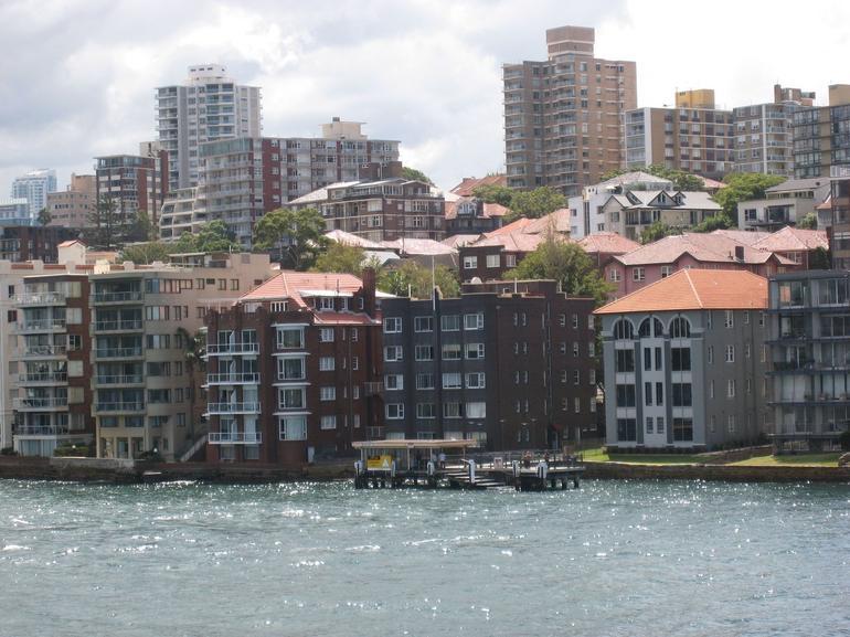 Houses opposite the Opera House - Sydney