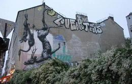 Famous graffiti in Kreuzberg district - October 2013