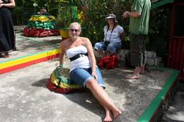 Where Marley would often lay to meditate and get inspiration for his songs, Louise M - November 2009