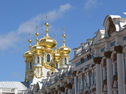 Outside view of Catherine Palace showing architectural features , Rodger G - May 2016