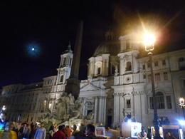 Piazza Navona bada i måneskinn , Hege N - October 2013