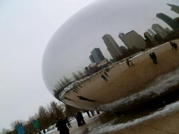 After surviving the huge blizzard that hit Chicago this February, I decided to brave the cold and venture out for some tourist activity. The skyline looks lovely reflected in and quot;The Bean, and ... , JackieD - March 2011