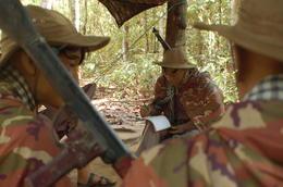 An illustration of a Viet Cong camp , John C - November 2012