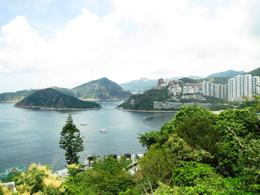 Beautiful views of harbors and lush mountains on the way to Stanley, on the south side of HK island. , BethanieKay - July 2014