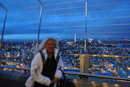 Up on the observation deck of the Space Needle, perfect weather and a fantastic view! , Clayton C - January 2012