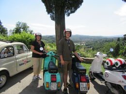 My son and I rode through the beautiful hills of Tuscany on our Vespas. Drove through olive groves and vineyards, relaxing afterwards at a beautiful farm and enjoyed a delicious supper. We had a ... , Susan C - July 2016