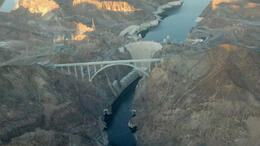 Flying over Lake Mead and Hoover Dam - February 2012