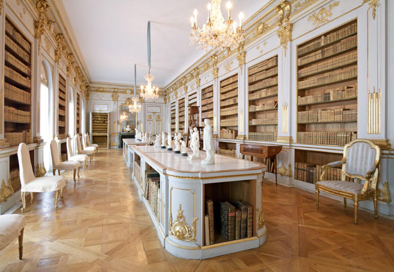 Library in Drottningholm Palace, Sweden - Stockholm