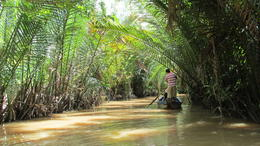 A ride through the Mekong backwaters in a small wooden boat. , Dean W - October 2013