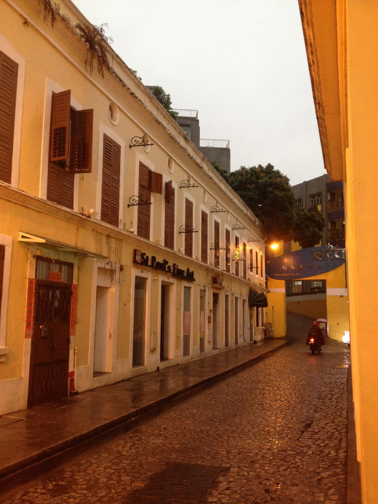 Typical street from old downtown. - Macau