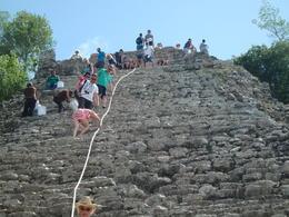 Climbing in Coba. , Anita L - June 2017