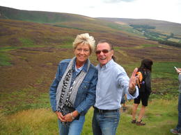 Me and our wonderful tour guide John. , Catherine B - August 2017