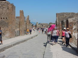 The main street of Pompeii... filled with people. , John H - August 2017