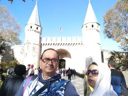 We are in front of Topkapi Palace , Bakhteyer - November 2017