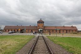 Auschwitz-Birkenau entrance , Aman B - August 2016