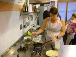 This is me and my first attempt at making a crepe, Christopher S - August 2010