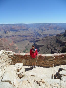 Andrew at the South Rim, Cowboysrock - June 2011