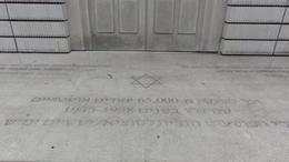 Inscription in the base of Holocaus memorial , Patrícia - September 2013