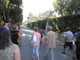 Le groupe lors de la visite des Jardins Borghese , Luce D - June 2016