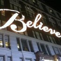 The side of Macy's, lit up for the holidays. , Michelle G - January 2014