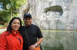 My wife and I , Rafael E R - September 2013