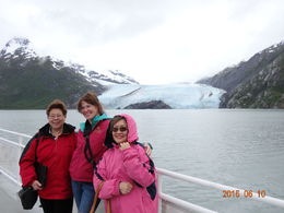 Jing, Elizabeth, and Nancy on the Portage Glacier Cruise. June, 2015 , Jing Y - June 2015