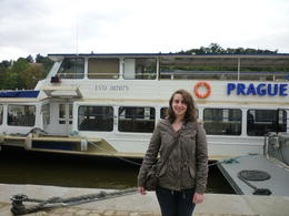 me in front of the boat!, Irene - October 2013