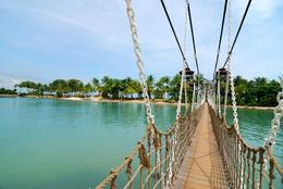 Suspension Bridge in Sentosa, Singapore - May 2011